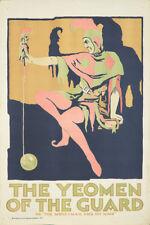Original Vintage Poster The Yeomen of the Guard Opera Gilbert Sullivan Harlequin