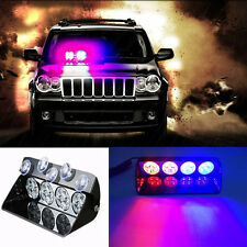 16 LED Car Police Strobe Light Dash Emergency Flashing Warning Lights Red&Blue
