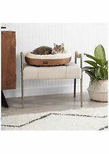 New listing Basics Round Bolster Dog Bed With Flannel Top, 20-Inch, Brown Pet Supplies