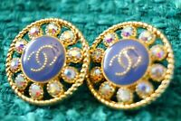Two Price for 2 pcs Vintage Chanel Buttons cc lot of 2 size 21 mm 0,8 inch