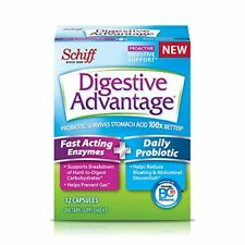 Schiff Digestive Advantage Fast Acting Enzymes & Daily Probiotic 32 Capsules