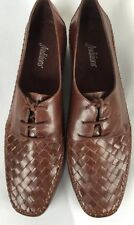 Auditions Shoes Brown Leather Basket Weave size 11 Oxfords Brazil