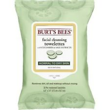 Burts Bees Facial Cleansing Towelettes Cucumber&Sage Extract Normal/Dry Skin (2)