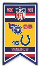 2021 Semaine 3 Bannière Broche NFL Titans Vs.Indianapolis Colts Foot Super Bol