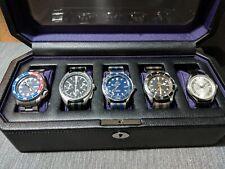 Wolf Windsor 5 Piece Watch Box - Purple
