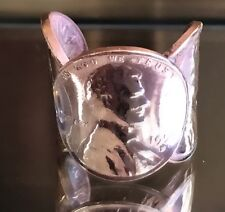 Vintage Stile Copper Penny Ring Jewelry Made By Hand Craftsmen Artesian