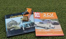 LOT  CITROEN 2CV LIVRES + MINIATURE NOREV 2 CV 1956