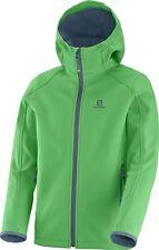 Salomon Kinder Softshell Jacke, Gr: 128, Farbe: grün, Softshelljacke, winddicht