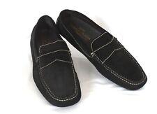 Italian DONALD J PLINER Vinco Mens Size 10.5 Black Suede Leather Driving Loafers