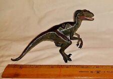 Papo VELOCIRAPTOR Raptor JURASSIC PARK WORLD Dinosaur Toy Figure New blue & grey