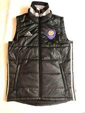 Adidas Primaloft Full Zip Vest Orlando City Lions MLS Soccer Black AB9819