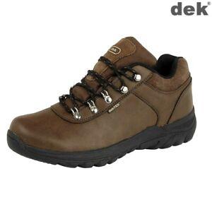 Hiking Walking Trainers Boots Dek Amble Waterproof Membrane Brown Size 4 -12