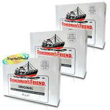 3x Fisherman's Friend Original Mentol Y Eucalipto Pastillas 45g