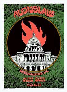 MINT & SIGNED Audioslave 2005 EMEK DC 9:30 Club Silkscreen Poster 4/200