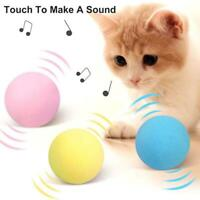 Cat Toys Ball Interactive Chirping Sounds Pet Squeaky Toys for Kitten Kitty