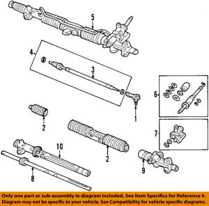 Acura HONDA OEM 02-04 RSX-Rack And Pinion Complete Unit 53601S6MA52