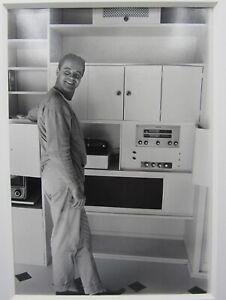 1956 photograph Jack Lemmon at home Roger Marshutz Photoplay Magazine stamp