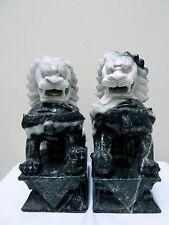 Antique Jadeite Foo Lions - Exquisite