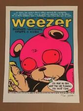 Weezer Cw Mitchell Pavilion 2001 Mega Rare Concert Poster By Jermaine Rogers