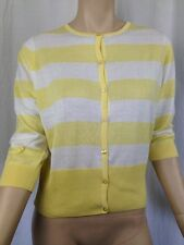 BNWT Womens Sz 18 Target Yellow/White Stripe 3/4 Sleeve Round  Neck Cardigan