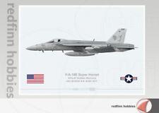 Warhead Illustrated F/A-18E Super Hornet USN VFA-87 Su-22 Killer Aircraft Print