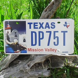 Véritable Plaque D' Immatriculation du TEXAS (DP75T) - USA - License Plate