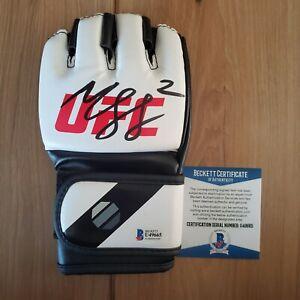 Khamzat Chimaev Signed UFC Glove COA BAS Beckett #U49665 Autographed