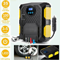 100PSI 12V Digital Tyre Inflator Portable Car Pump Air Compressor Whit LED Light