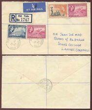 Gold coast old TAFO lettre recommandée à cornwall gb 1956