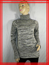94 € COP.COPINE Taille L 40 42 USA 8  pull col roulé gris CHARDON pullover