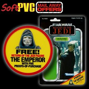 "Kenner STAR WARS Vintage ""Mail-Away Offer"" FREE Emperor soft PVC patch/coaster"