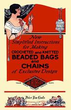 JulRoberts Bead Bag Book c.1925 Patterns for Crochet & Knitting Vintage Purses