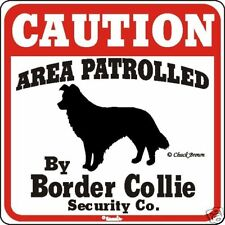 Border Collie Caution Dog Sign