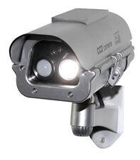 Solar Powered CCTV Security Fake Dummy Camera Cam With Flash Lights+Human Sensor