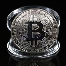 1x Argent Bitcoin Commémoratif Rond Collectionneurs Pièce de Monnaie Bit Est