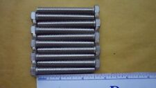 """New listing Stainless Steel 5/16""""-18 x 2 1/2"""" Hex Bolts Full Thread qty 10"""