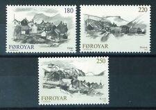 Faroe Islands Stamps - Scott # 83-85 MNH - Views of Villages 1982 (S276)