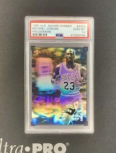 1991-92 Upper Deck Michael Jordan Award Winners Hologram #AW4 PSA 10 **Read Desc