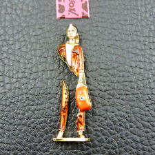 New Fashion Brown Enamel Performance Art Boy Charm Brooch Pin