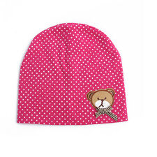 Polka Dot Pink Teddy Bear Hat