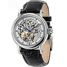 Seagull Automatic Self Wind Men Watches Double Skeleton Genuine Leather M182SK