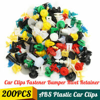 200X Plastic Car Door Trim Clip Bumper Rivet Screws Body Panel Push