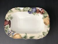 """Napa Valley by Noble Excellence Rimmed Oval Serving Bowl 9""""X12"""" Fall/Autumn"""