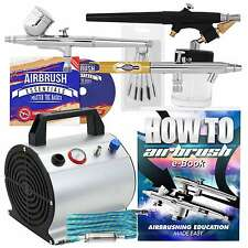 Premium Dual Action Airbrush Kit with 3 Guns