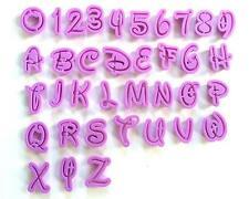 36 Buchstaben Zahlen Alphabet Aussstecher Ausstechform Fondant Marzipan Torten