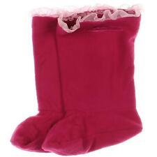 Western Chief Girls Pink Fleece Rain Boot Liners S 7-8  2402