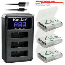 Kastar Battery 3 Channel Charger for Sony NP-BX1 Cyber-shot DSC-RX100M6 RX100 VI