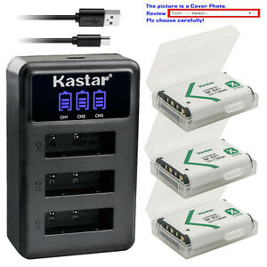 Kastar Battery 3 Channels Charger for Sony NP-BX1 BX1 Sony Cyber-shot DSC-HX400V
