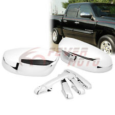 Chrome Door Handle+Mirror Cover Fit Chevy Silverado/GMC Sierra1500 2500 07-13 FM