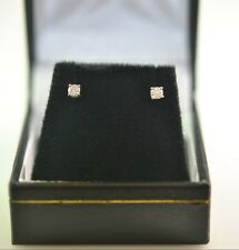14 kt White Gold Earrings Studs with genuine Diamonds d=0.19 ct G SI1 2.75mm